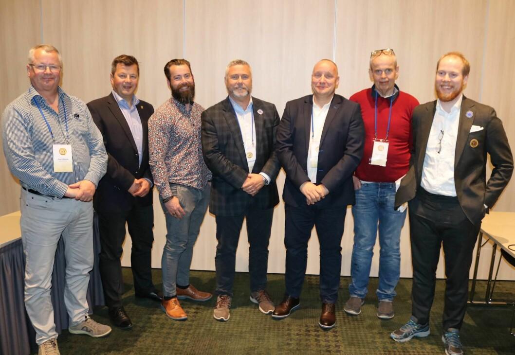 Nytt styre: (f.v.) Einar Ulleberg, Rune Meier Steinar Vikholt Nils Vindenes, Dag-Magne Lunde, Reidar Melhuus og Philip Jackson.