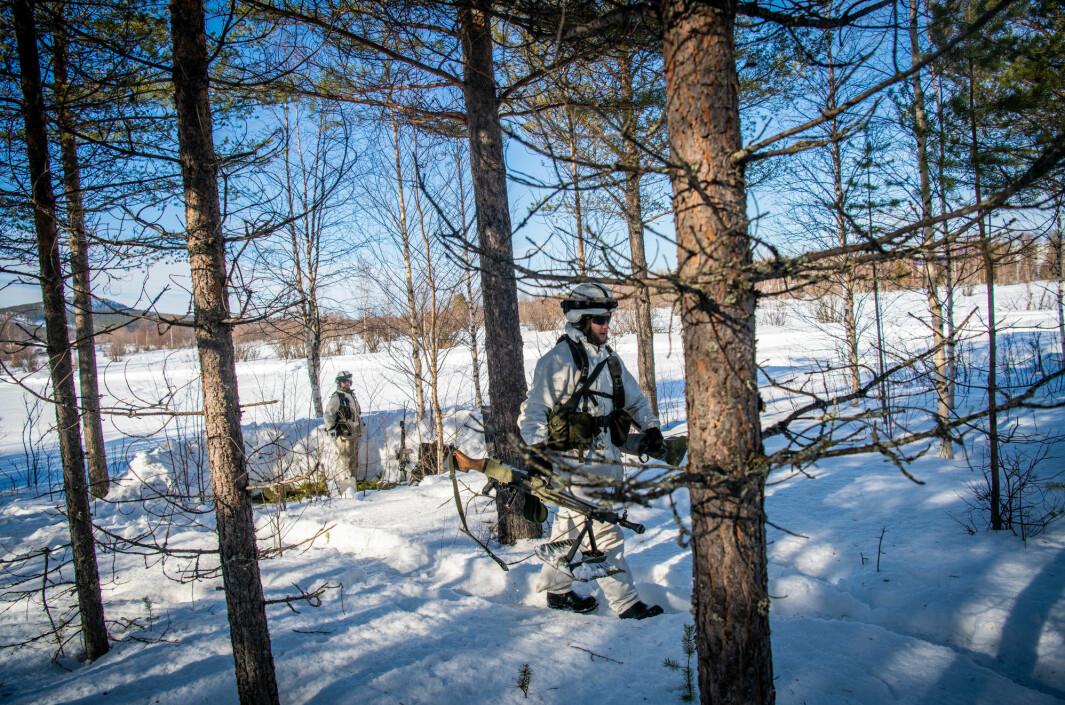 ØVELSE: Svenske soldater under en øvelsen i Nord-Sverige.