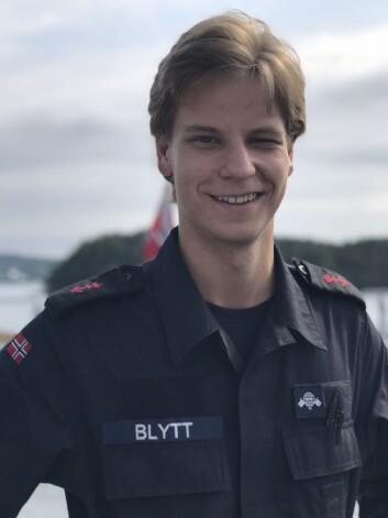 Lavrans Blytt er sambansgast om bord KNM Thor Heyerdahl (Foto: Øyvind Førland Olsen/Forsvarets forum).