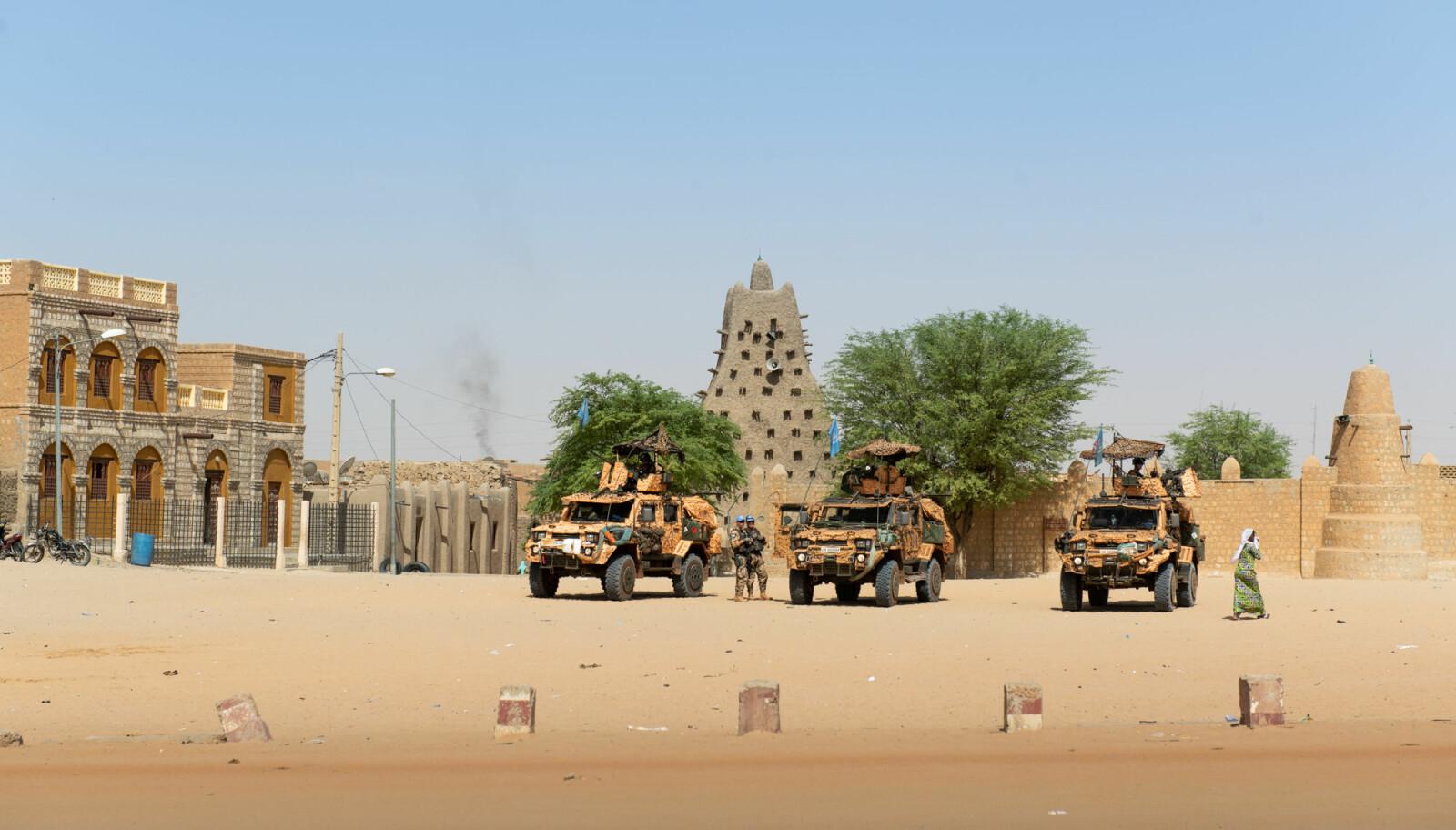 Sankoré-moskeen, en av tre eldgamle læringssteder i Timbuktu, datert tilbake til år 989