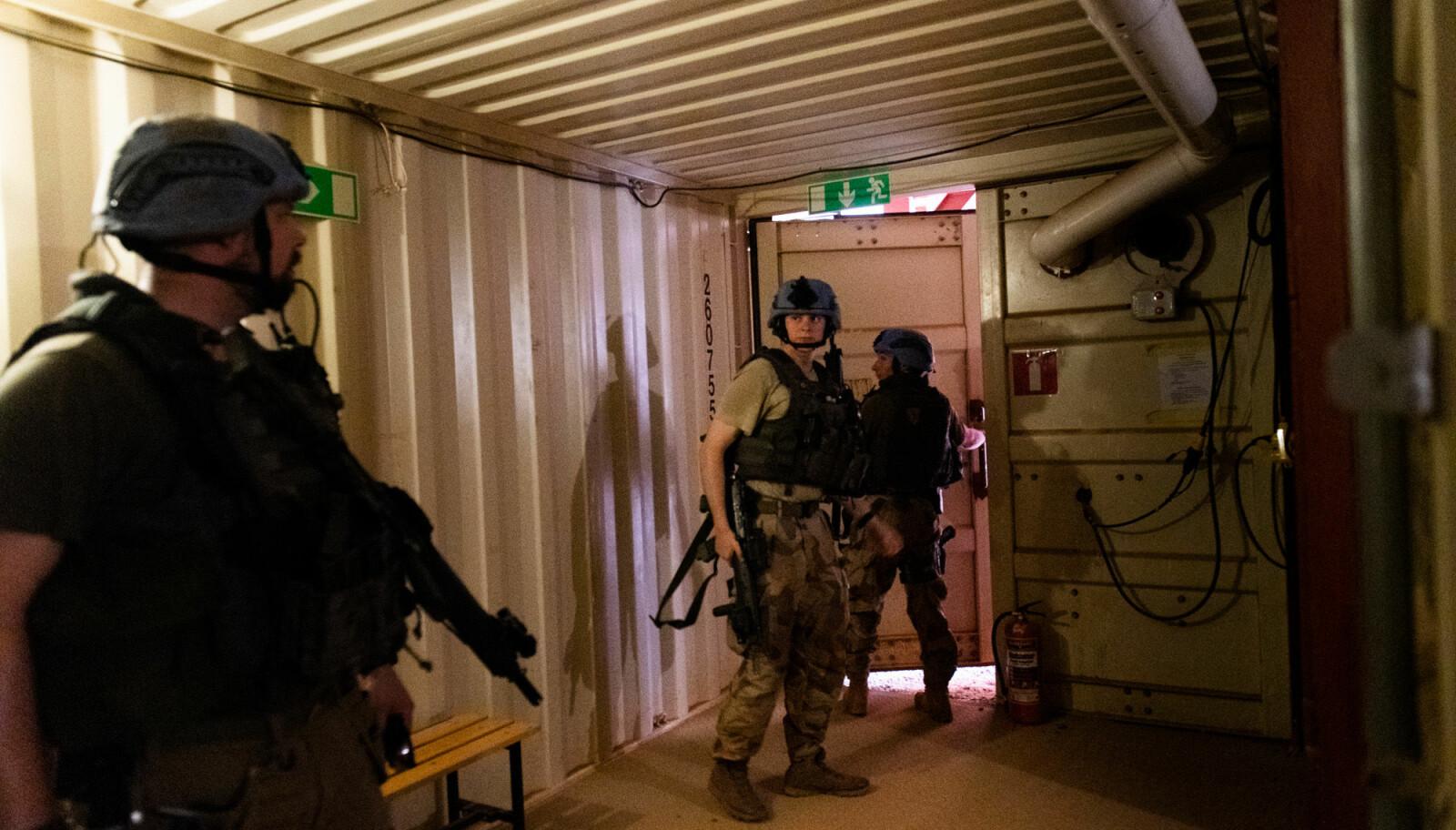Et møte med denne bunkeren var noe av det første Forsvarets forum fikk oppleve da de ankom Timbuktu.