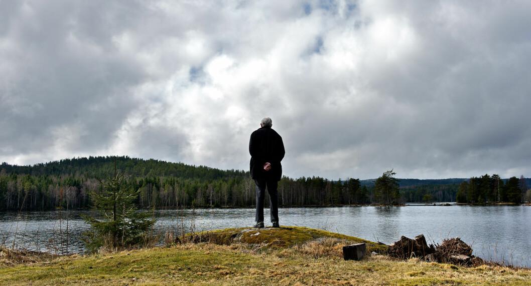 I 2012 fikk Åge Aulie loset veteranforeningen til grenselosene i havn. Her fra et vann ved svenskegrensa. Arkivoto: Arne Flaaten