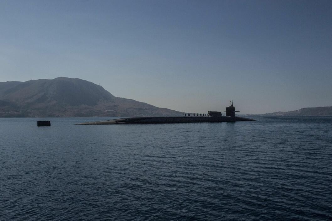 TIL NORGE? Den amerikanske ubåten USS Florida. Slike atomdrevne ubåter kan bli et vanlig syn i Tromsø fremover. Foto: U.S. Navy