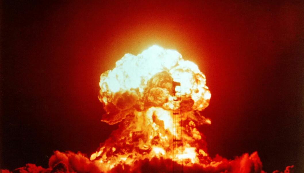 ATOMVÅPEN: Samtlige atomvåpen må ødelegges, mener Mikhail Gorbatsjov. Her ser vi resultatet av en atomprøvespregning i USA på 1950-tallet (Foto: Courtesy Everett Collection/ via NTB Scanpix)