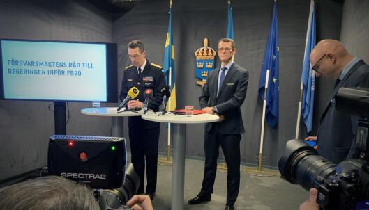 Sveriges forsvar: – Vi mangler 55 milliarder frem mot 2030