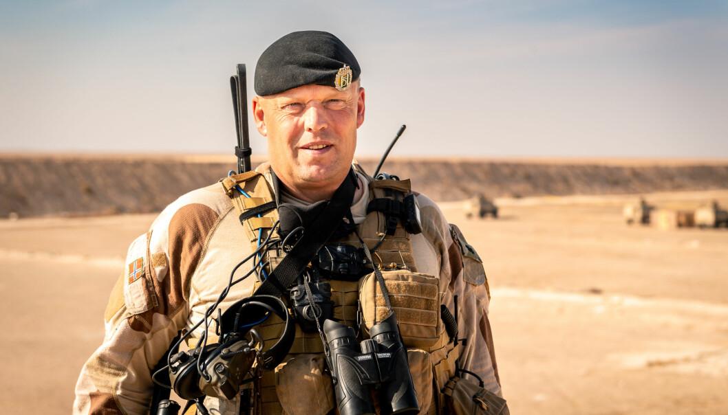 OPPLEVDE ANGREPET: Oberstløytnant Einar Aarbogh var sjef for NORTU 5 (Norwegian Task Unit) i Anbar, Irak.