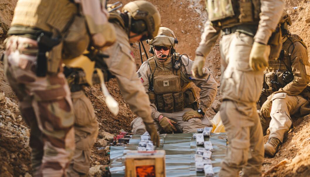 Ordningen vil gjøre det til vedtatt politikk at soldatfedre ikke skal være hjemme med barna, slik de ellers er overalt i det norske samfunnet, skriver Are Saastad om et forslag fra regjeringen. Her ser vi soldater fra Norwegian Task Unit 5 i Irak i desember 2019.