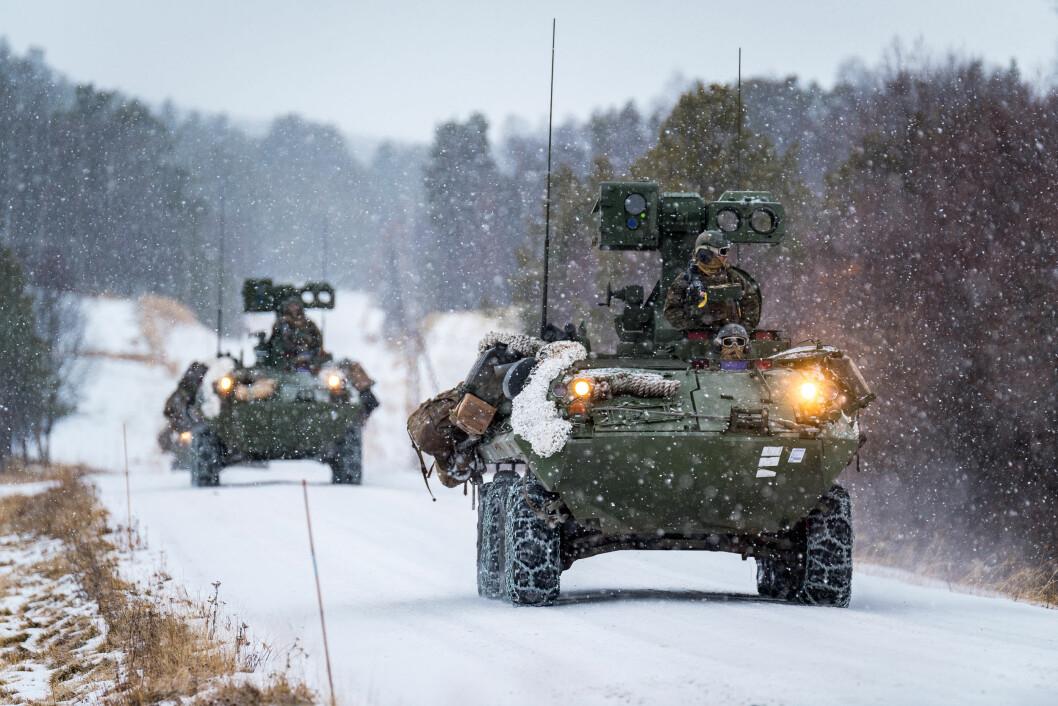 Amerikanske marineinfanterister under øvelse Trident Juncture i 2018. Nå reduserer amerikanerne antallet soldater som deltar på året vinterøvelse Cold Response. (Foto: Ole-Sverre Haugli/Forsvaret)