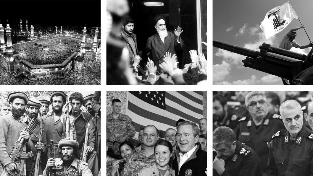 Bilder fra Saudi-Arabia, Iran, Libanon, Afghanistan og Irak. Foto: Steve McCurry, Mohammad Zaatari, Jim Young, Ammar Awad (Reuters, AP)\n
