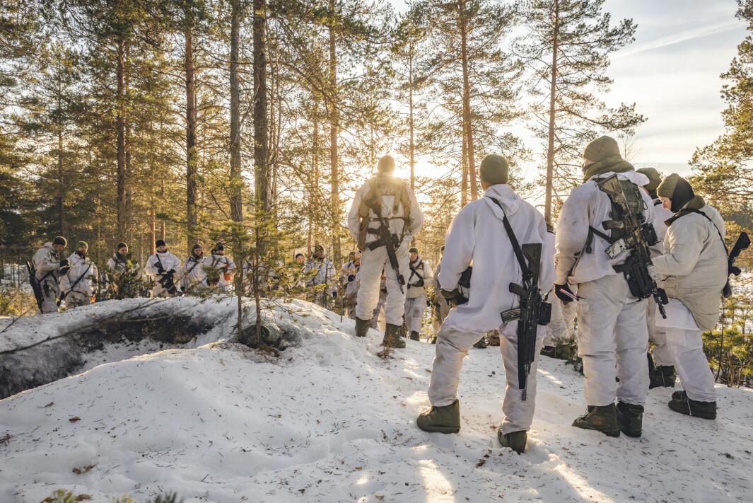 LAGFØRERKURS: Dette bildet er tatt under lagførerkurs på Terningmoen i januar 2020.