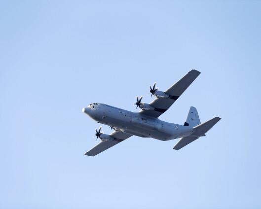 Hercules-fly nær ved kollisjon under Cold Response