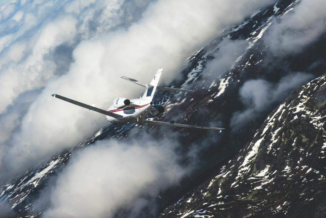 «Kongeflyet». Luftforsvarets DA-20 Jet Falcon kalles «Kongeflyet» av mange fordi det også er blitt brukt til å fly VIP-passasjerer.
