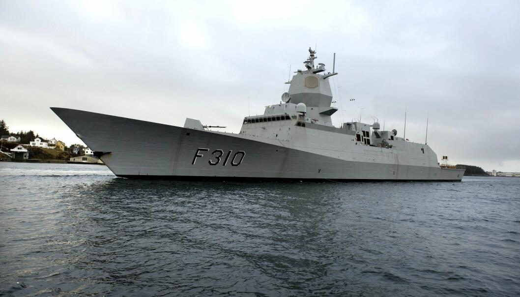 Forsvaret har fire fregatter, en av dem er KNM Fridtjof Nansen.