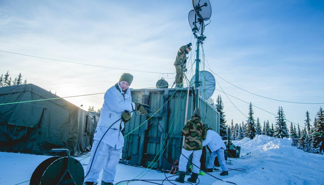Vi må ha robuste tiltak for å møte fremtidige trusler, skriver Oddmund Hammerstad. Her ser vi soldater fraCyberforsvaret under øvelse Joint Viking i 2017 .