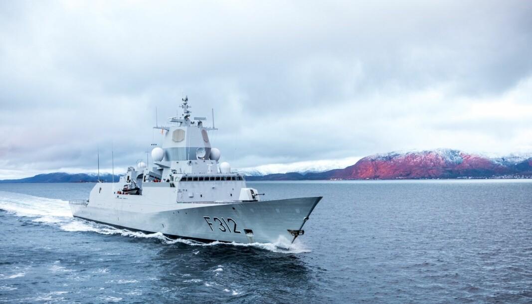 KNM Otto Sverdrup er på øvelse i Storbritannia og kommer tilbake til Norge i midten av februar.