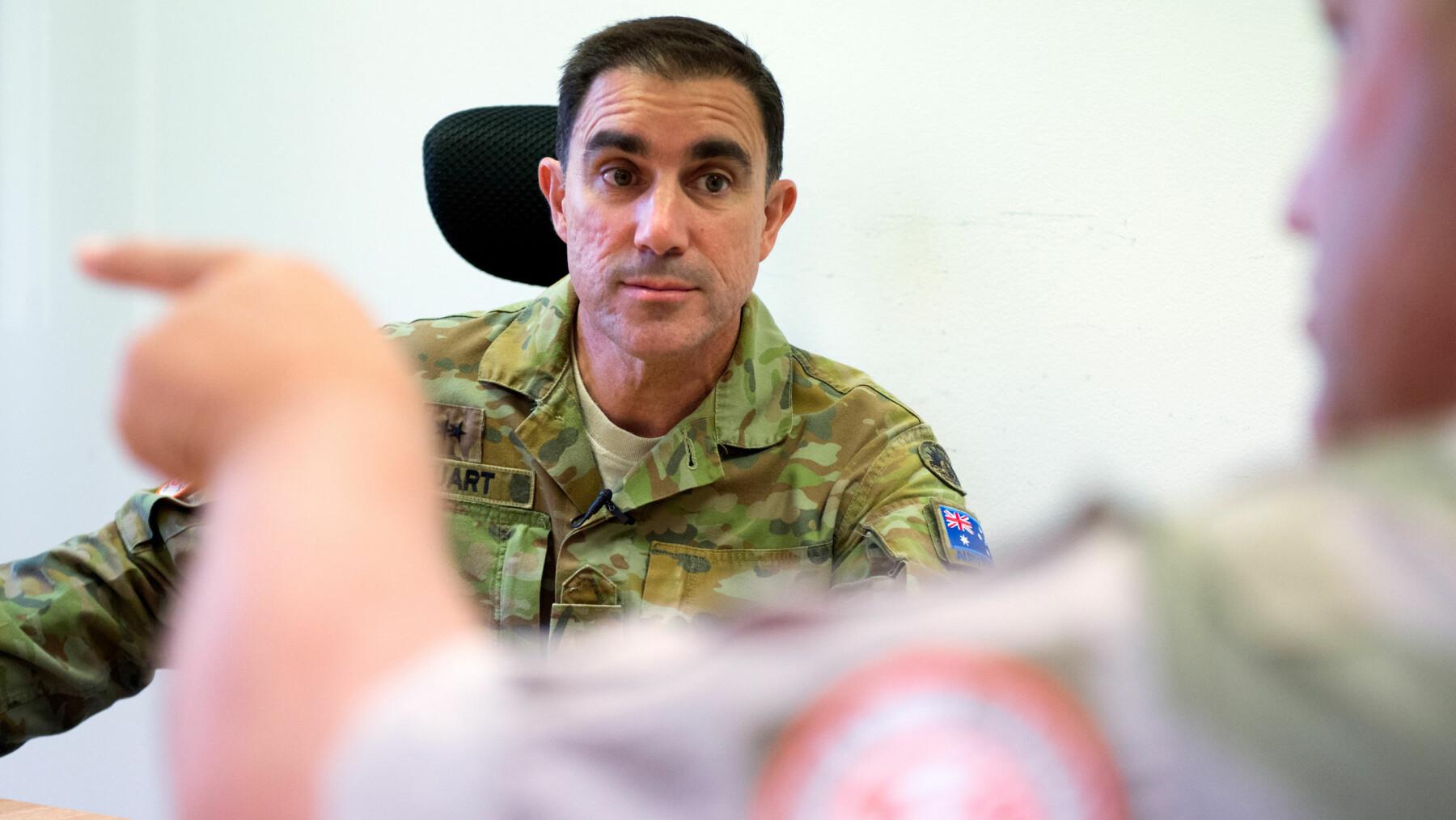 Australian Force Commander Simon Stuart.