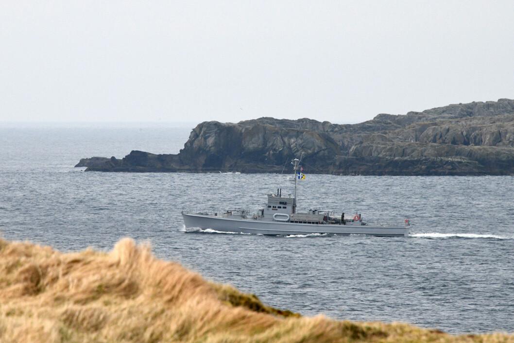 For 50. gang tok ubåtjageren KNM Hitra turen over Nordsjøen. Målet var stedet hvor båten var stasjonert under 2. verdenskrig: Shetland.