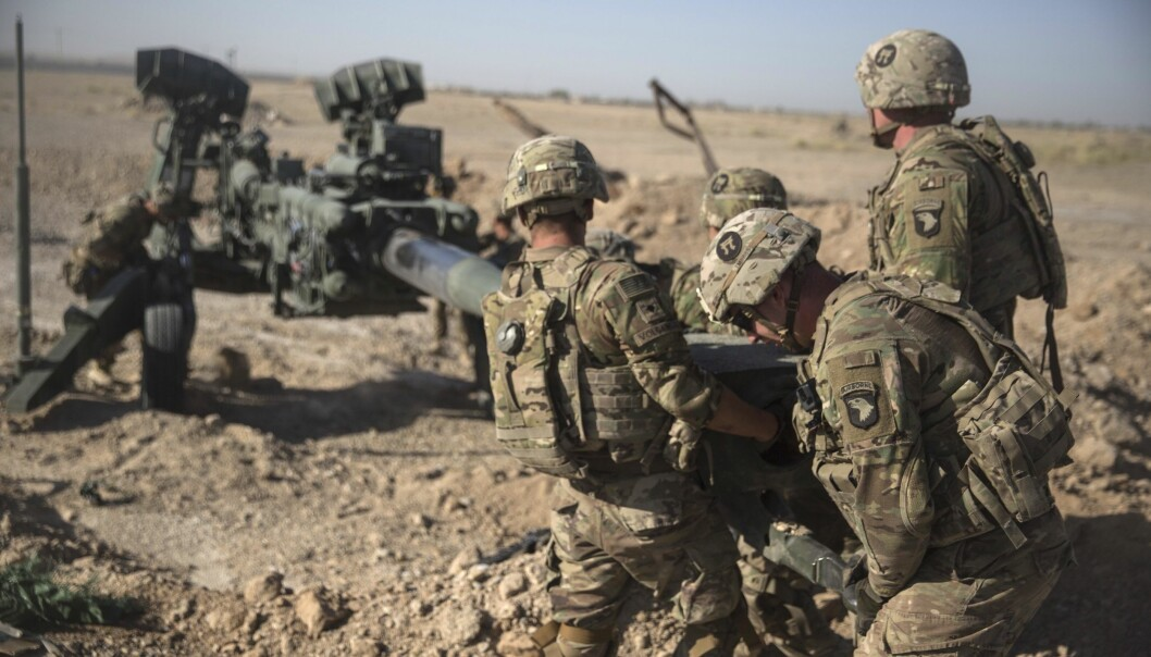 USA fortsetter tilbaketrekkingen fra Afghanistan og har satt seg som mål at det skal være færre enn 5.000 soldater i landet i løpet av november. Her ser vi amerikanske soldater i Afghanistan i 2017.