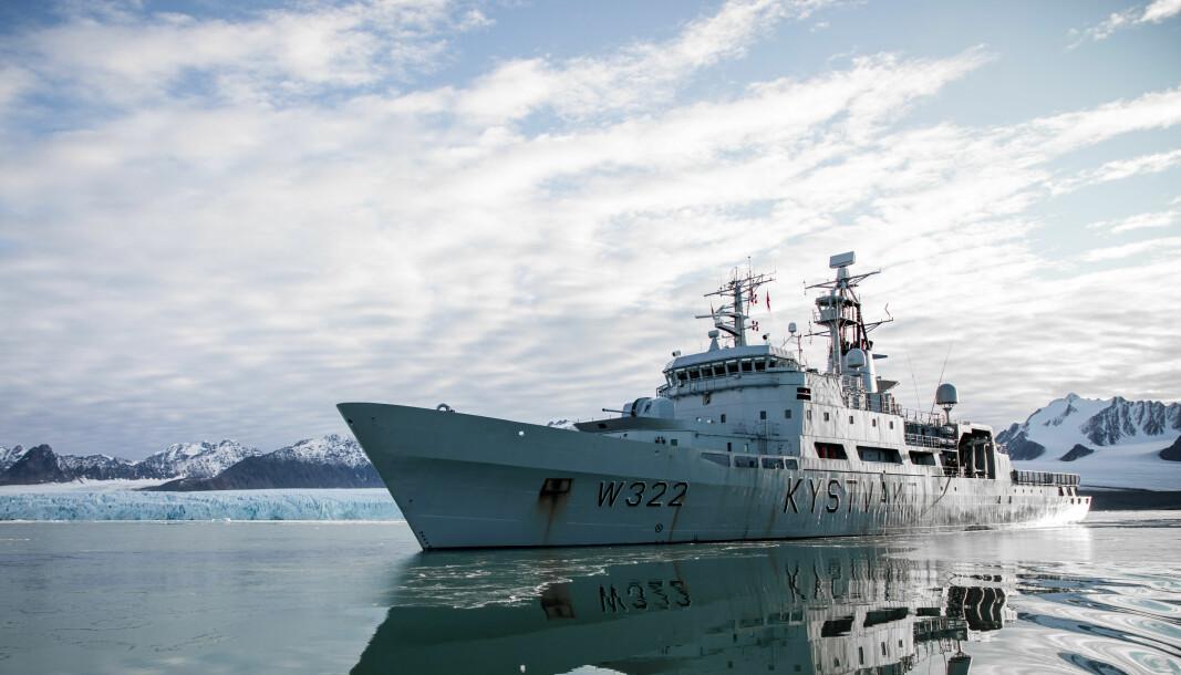 Vår regjering bør evne å utnytte de muligheter som nå byr seg for å utrette noe stort i internasjonal sammenheng i Arktis, skriver Oddmund Hammerstad. Her ser vi KV Andenes på Svalbard.