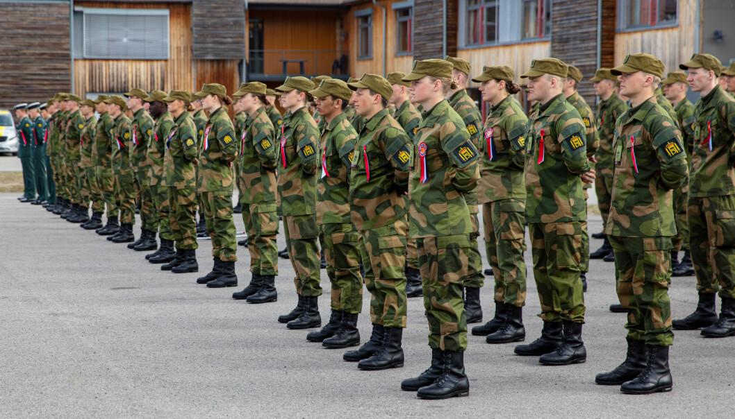 Soldater ved Hans Majestet Kongens Garde, her med oppstilling på 17. mai.