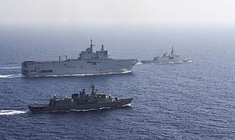 Den franske marinen trapper opp i Middelhavet