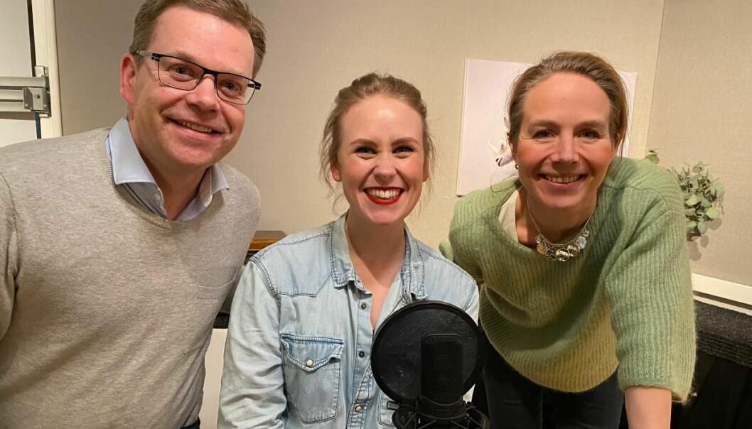 Forskningssjef ved FFI, André Pettersen, programleder Silje Kampesæter og Generaladvokat Sigrid Redse Johansen.