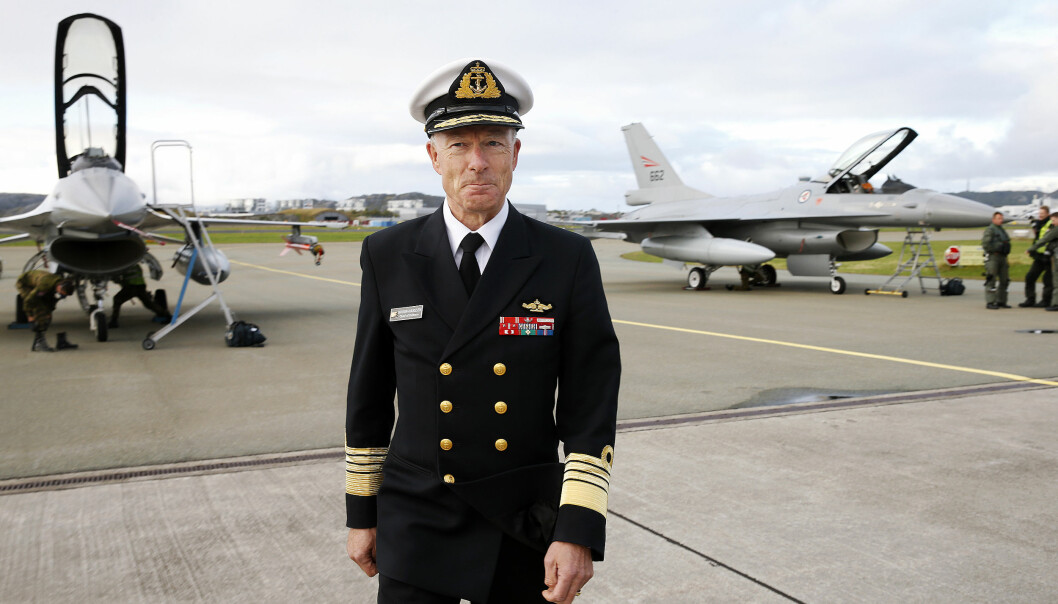 Admiral Haakon Bruun-Hanssen under et besøk i Bodø i 2016.