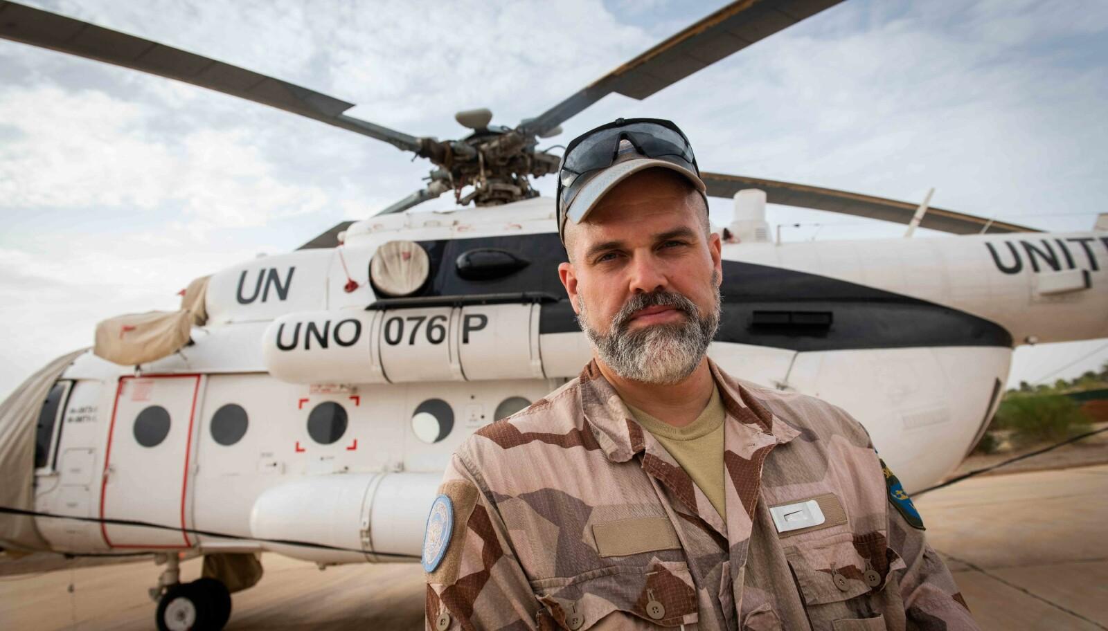 Flyoperasjonsoffiser Jesper i det svenske detasjementet har kjent konflikten i Mali tett på kroppen.