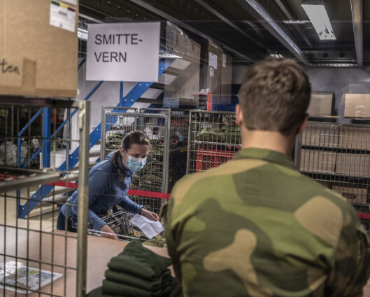 Tre korona-positive i Skjold leir
