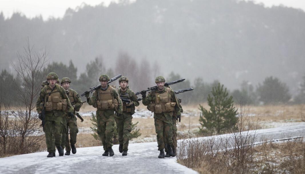 Sør-Trøndelag har avvist at det er grunnlag for gruppesøksmål for å få utbetalt feriepenger. Her ser vi soldater fra innsatsstyrke Bjørn West.