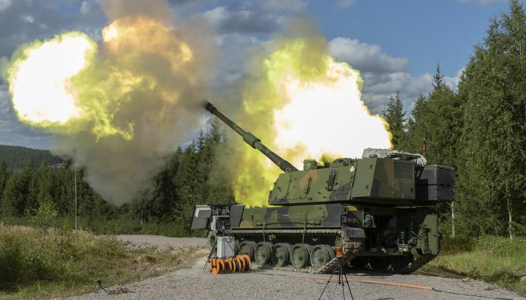 Denne uken skal K9 skyte over 40 km med en ny ammunisjonstype.  Det har aldri skjedd i Norge før.