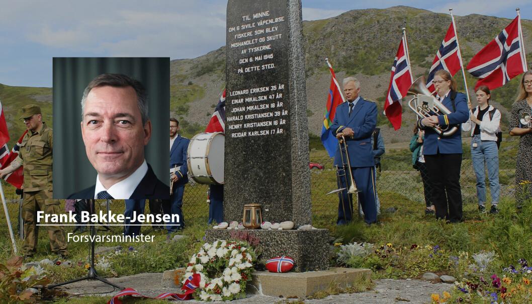 De tyske soldatene etterlot seg seks drepte, en voldtatt kvinne og 17 farløse, traumatiserte barn, skriver forsvarsministeren om massakren på Hopseidet under 2. verdenskrig..