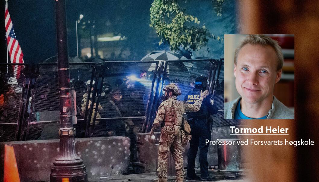 USA er i dag et samfunn hvor tilliten mellom folk er i fritt fall, skriver Tormod Heier.