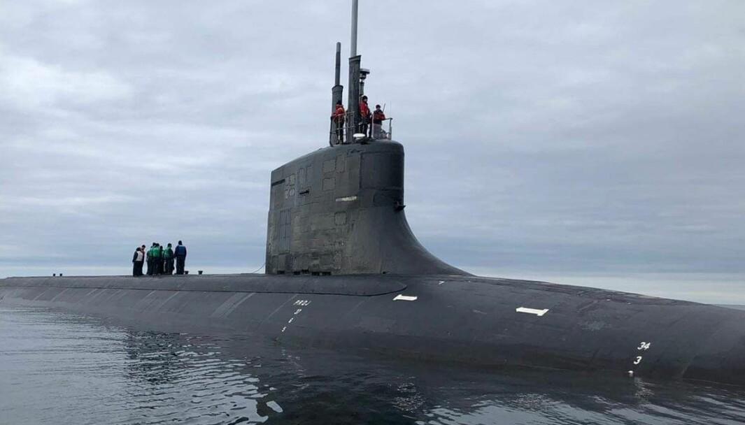 Ubåten USS Seawolf utenfor Tromsø.