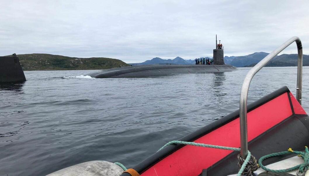 USS Seawolf foretok mannskapsbytte i norsk farvann.