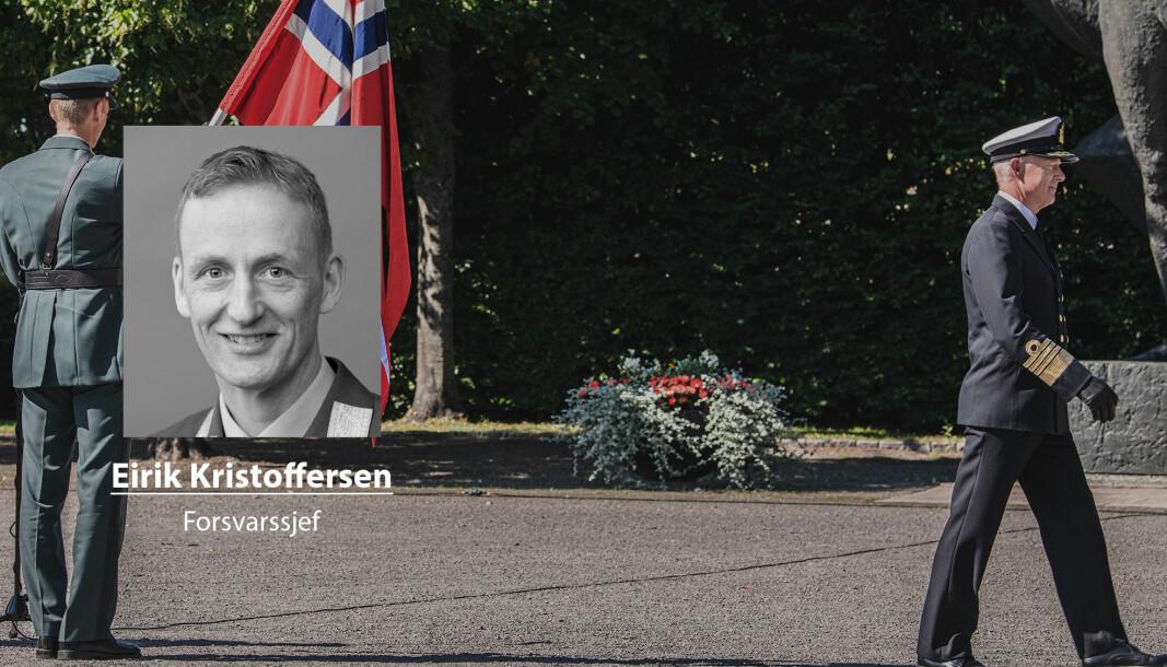 17. august overtok Eirik Kristoffersen forsvarssjefens kommandoflagg. Haakon Bruun-Hanssen tropper av etter nærmere syv år som forsvarssjef.