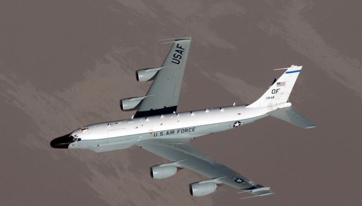Et overvåkingsfly av typen RC-152 har denne uken operert i norske nærområder. På bildet opererer flytypen i Afghanistan.