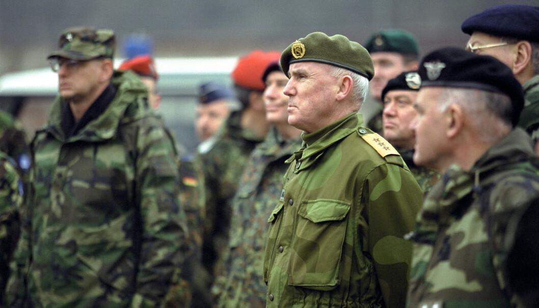 Thorstein Skiaker var sjef for Kosovo Force (KFOR) fra april til oktober 2001.