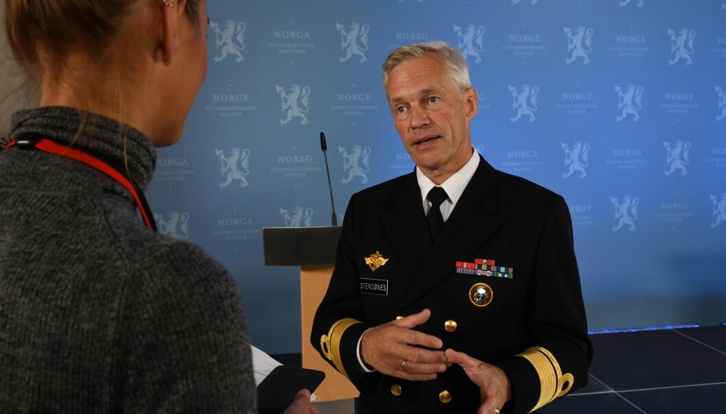 Viseadmiral Nils Andreas Stensønes er nyutnevnt etterretningssjef.