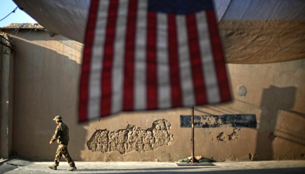 Tiden er overmoden for å trekke USA ut av endeløse kriger, skriver Joe Biden . I dette bildet fra 2011 ser vi en amerikansk soldat i Kunar-provinsen i Afghanistan.
