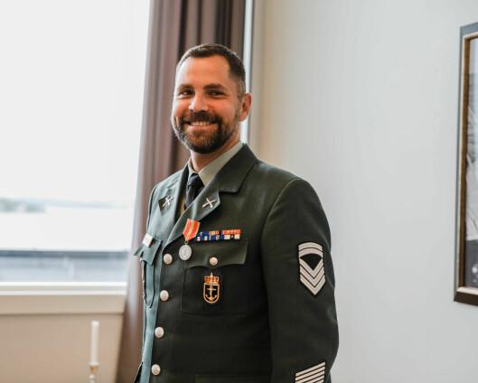 Egil Johannes Grønner ble tildelt Hærens fortjenestmedalje