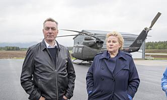 Solberg besøker norske soldater og hviterussisk opposisjonsleder i Litauen