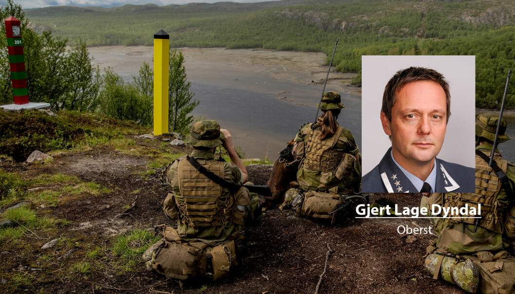 Om vi ikke stoler nok på trusselvurderingene har vi et grunnleggende tillitsproblem, skriver Gjert Lage Dyndal. Her er norske soldater ved grensa til Russland.
