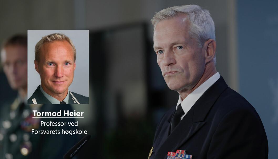 Viseadmiral og sjef for Etterretningstjenesten, Nils Andreas Stensønes, må se hele det sikkerhetspolitiske bildet, skrive Tormod Heier.