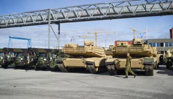 Nå sendes amerikanske stridsvogner ut av Norge