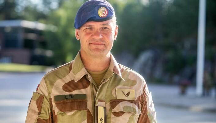 Styrkesjef Kristian Lien leder den norske delen av rådgivningsgruppen i Bagdad.
