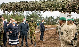 Solberg og Bakke-Jensen fikk demonstrert defensiv tilbaketrekning i Litauen