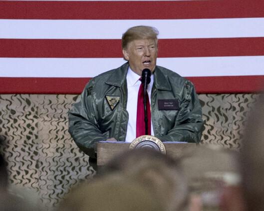 Trump-kunngjøring om Irak ventes
