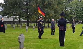 Markering ved den tyske krigskirkegården