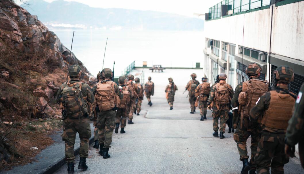 Innsatsstyrke Bjørn West på øvelse Urban Attack i Bergen i fjor.